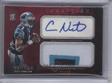 2011 Topps Inception Rookie Autographed Jumbo Patch Red #AJP-CN - Cam Newton /25