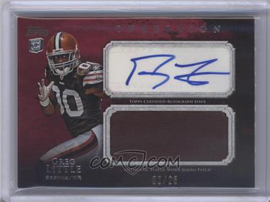 2011 Topps Inception Rookie Autographed Jumbo Patch Red #AJP-GL - Greg Little /25