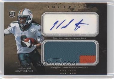 2011 Topps Inception Rookie Autographed Jumbo Patch #AJP-EG - Edmond Gates /599