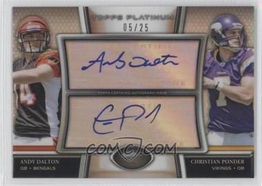 2011 Topps Platinum - Dual Autographs #DA-DP - Christian Ponder /25