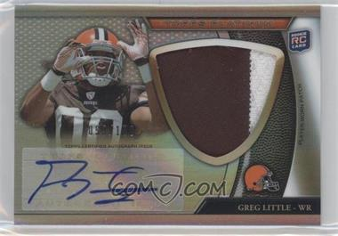 2011 Topps Platinum Autographed Refractor Jumbo Rookie Patch #148 - Greg Little /150
