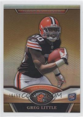2011 Topps Platinum Gold Refractor #148 - Greg Little /50