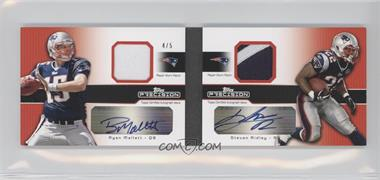 2011 Topps Precision Dual Rookie Autographed Patch Booklets #DRAP-MR - Ryan Mallett, Stevan Ridley /5