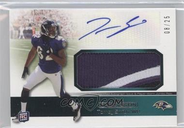 2011 Topps Precision Rookie Autographed Jumbo Relic Green Patch #RAJR-TS - Torrey Smith /25