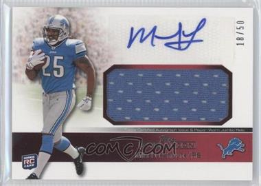 2011 Topps Precision Rookie Autographed Jumbo Relic Red #RAJR-ML - Mikel Leshoure /50
