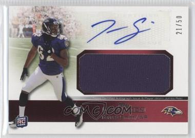 2011 Topps Precision Rookie Autographed Jumbo Relic Red #RAJR-TS - Torrey Smith /50