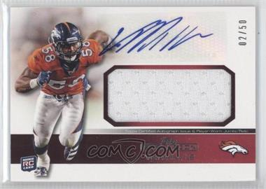 2011 Topps Precision Rookie Autographed Jumbo Relic Red #RAJR-VM - Von Miller /50