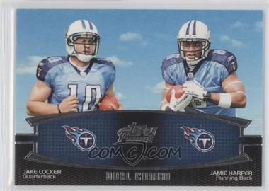 2011 Topps Prime - Dual Combo #DC-LH - Jake Locker, Jamie Harper