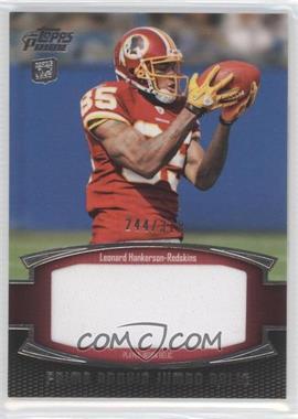 2011 Topps Prime - Prime Rookie - Jumbo Relics #PRJ-LH - Leonard Hankerson /318