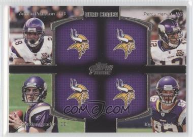 2011 Topps Prime - Quad Combo #QC-PHPR - Adrian Peterson, Percy Harvin, Christian Ponder, Kyle Rudolph