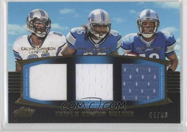 2011 Topps Prime - Triple Combo Relics - Gold #TCR-JLY - Calvin Johnson, Mikel Leshoure, Titus Young /50