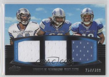 2011 Topps Prime - Triple Combo Relics #TCR-JLY - Calvin Johnson, Mikel Leshoure, Titus Young /388