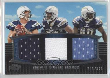2011 Topps Prime - Triple Combo Relics #TCR-RBT - Philip Rivers, Vincent Brown, Jordan Todman /388