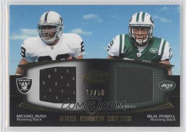 2011 Topps Prime Dual Combo Relics Gold #DCR-BP - Michael Bush, Bilal Powell /50