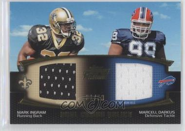 2011 Topps Prime Dual Combo Relics Gold #DCR-ID - Mark Ingram, Marcell Dareus /50