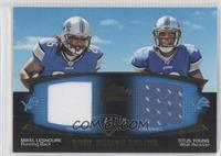 Mikel Leshoure, Titus Young /50