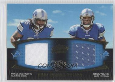 2011 Topps Prime Dual Combo Relics Gold #DCR-LY - Mikel Leshoure, Titus Young /50