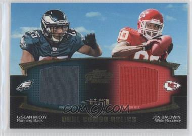 2011 Topps Prime Dual Combo Relics Gold #DCR-MB - [Missing] /50