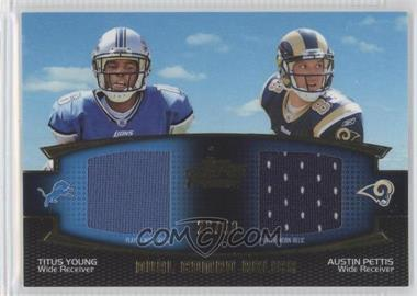 2011 Topps Prime Dual Combo Relics Gold #DCR-YP - Titus Young, Austin Pettis /50