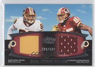2011 Topps Prime Dual Combo Relics #DCR-MH - Santana Moss, Leonard Hankerson /398