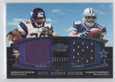 2011 Topps Prime Dual Combo Relics #DCR-PM - Adrian Peterson, DeMarco Murray /398