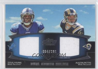 2011 Topps Prime Dual Combo Relics #DCR-YP - Titus Young, Austin Pettis /398