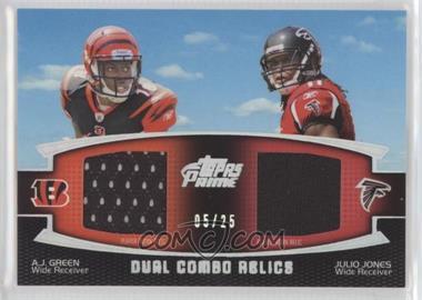 2011 Topps Prime Dual Combo Silver Rainbow #DC-GJ - A.J. Green, Julio Jones /25