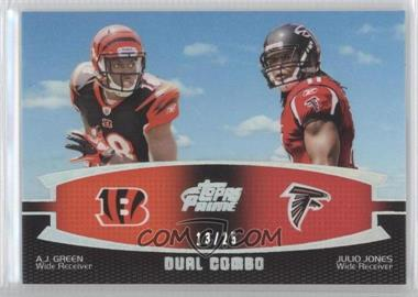 2011 Topps Prime Dual Combo Silver Rainbow #DC-GJ - [Missing] /25
