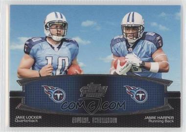 2011 Topps Prime Dual Combo #DC-LH - Jake Locker, Jamie Harper