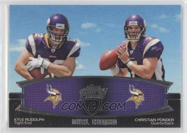 2011 Topps Prime Dual Combo #DC-RP - Kyle Rudolph, Christian Ponder