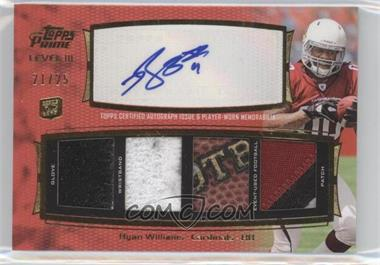 2011 Topps Prime Level III Autographed Relic #PIII-RW - Ryan Williams /25