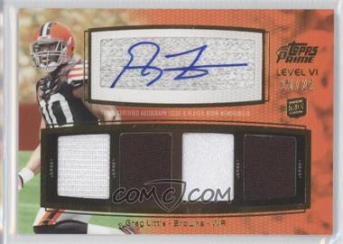 2011 Topps Prime Level VI Autographed Relic Gold #PVI-GL - Greg Little /25