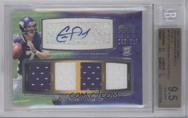 2011 Topps Prime Level VI Autographed Relic #PVI-CP - Christian Ponder /515 [BGS 9.5]