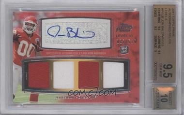 2011 Topps Prime Level VI Autographed Relic #PVI-JB - Jon Baldwin /515 [BGS9.5]