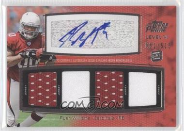 2011 Topps Prime Level VI Autographed Relic #PVI-RW - Ryan Williams /515