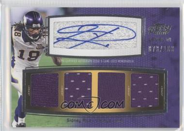 2011 Topps Prime Level VI Autographed Relic #PVI-SR - Sidney Rice /100