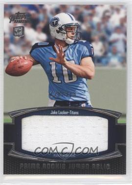 2011 Topps Prime Prime Rookie Jumbo Relics #PRJ-JL - Jake Locker /318
