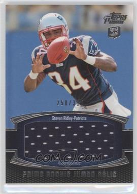 2011 Topps Prime Prime Rookie Jumbo Relics #PRJ-SR - Stevan Ridley /318