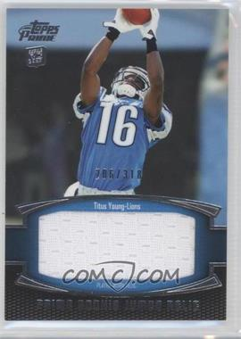2011 Topps Prime Prime Rookie Jumbo Relics #PRJ-TY - Titus Young /318