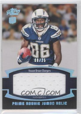 2011 Topps Prime Prime Rookies Silver Rainbow Jumbo Relics #PRJ-VB - Vincent Brown /25