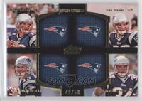Tom Brady, Ryan Mallett, Wes Welker, Shane Vereen /50