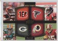 A.J. Green, Julio Jones, Randall Cobb, Leonard Hankerson /50