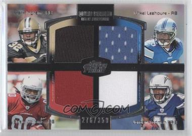 2011 Topps Prime Quad Combo Relics #QCR-ILWT - Mark Ingram, Mike Leach, Ryan Williams, Jordan Todman /350