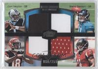 Cam Newton, Blaine Gabbert, A.J. Green, Julio Jones /350