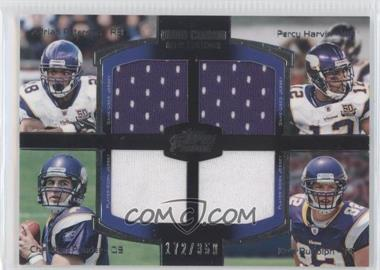 2011 Topps Prime Quad Combo Relics #QCR-PHPR - Adrian Peterson, Percy Harvin, Christian Ponder, Kyle Rudolph /350