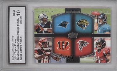 2011 Topps Prime Quad Combo #QC-NGGJ - Cam Newton, A.J. Green, Blaine Gabbert, Julio Jones [ENCASED]
