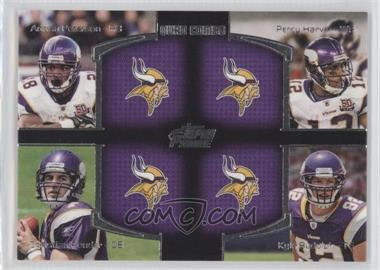 2011 Topps Prime Quad Combo #QC-PHPR - Adrian Peterson, Percy Harvin, Christian Ponder, Kyle Rudolph