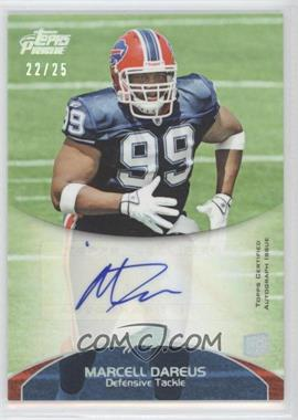 2011 Topps Prime Rookie Autographs Silver Rainbow #56 - Marcell Dareus /25