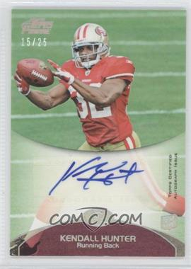 2011 Topps Prime Rookie Autographs Silver Rainbow #96 - Kendall Hunter /25
