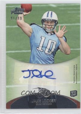 2011 Topps Prime Rookie Autographs #82 - Jake Locker /99